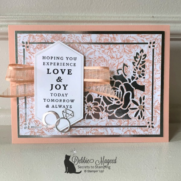 Elegant Wedding Card Featuring Last A Lifetime Stamp Set by Stampin' Up!